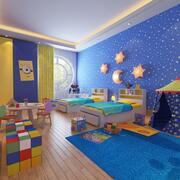3D儿童卧室 3d model