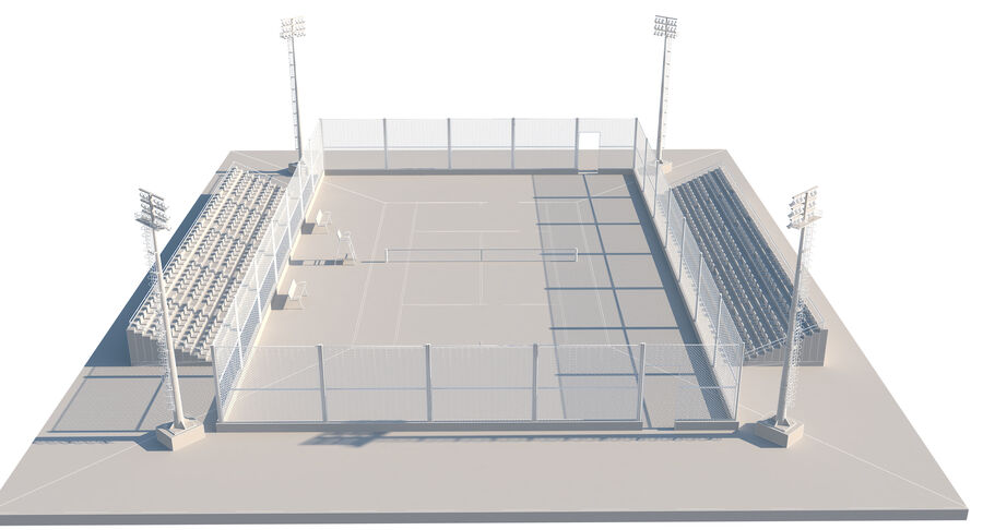 Tennis Court Collection royalty-free 3d model - Preview no. 54