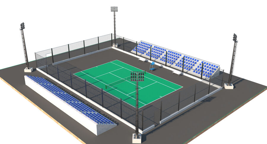 Tennis Court Collection royalty-free 3d model - Preview no. 42
