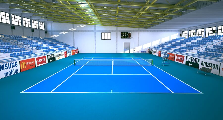 Tennis Court Collection royalty-free 3d model - Preview no. 28