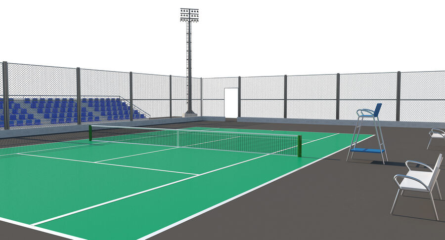 Tennis Court Collection royalty-free 3d model - Preview no. 46