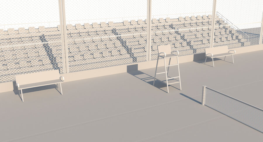 Tennis Court Collection royalty-free 3d model - Preview no. 55