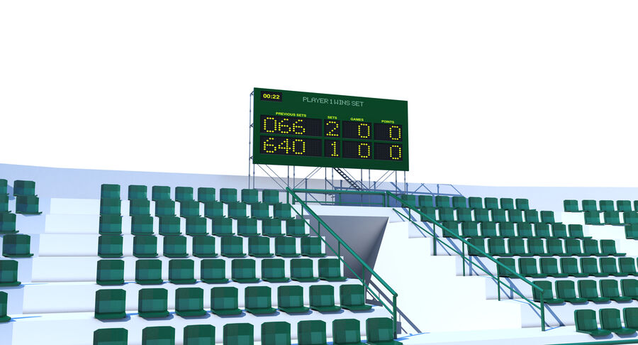 Tennis Court Collection royalty-free 3d model - Preview no. 9