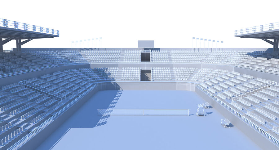 Tennis Court Collection royalty-free 3d model - Preview no. 24