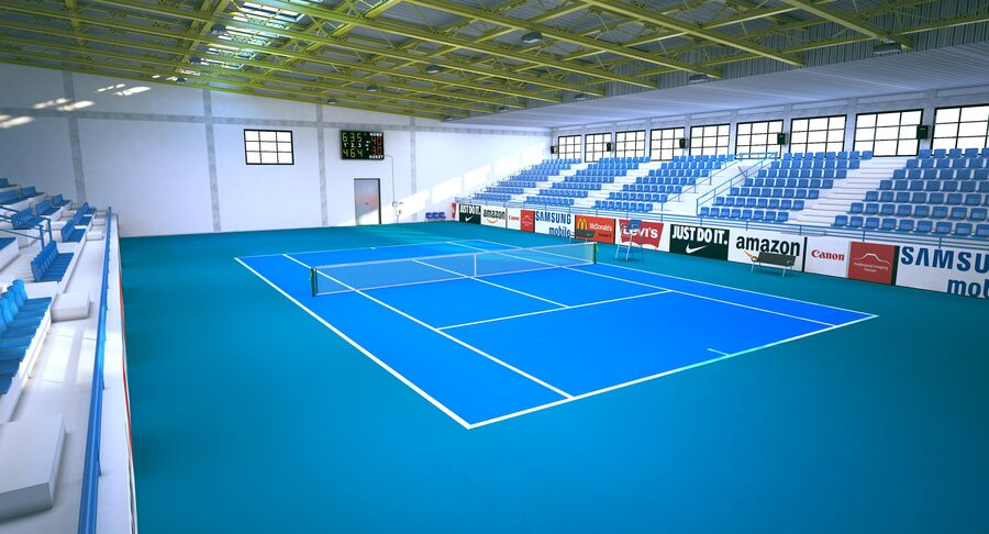 Tennis Court Collection royalty-free 3d model - Preview no. 27