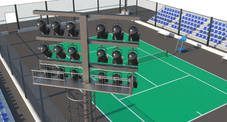 Tennis Court Collection royalty-free 3d model - Preview no. 48