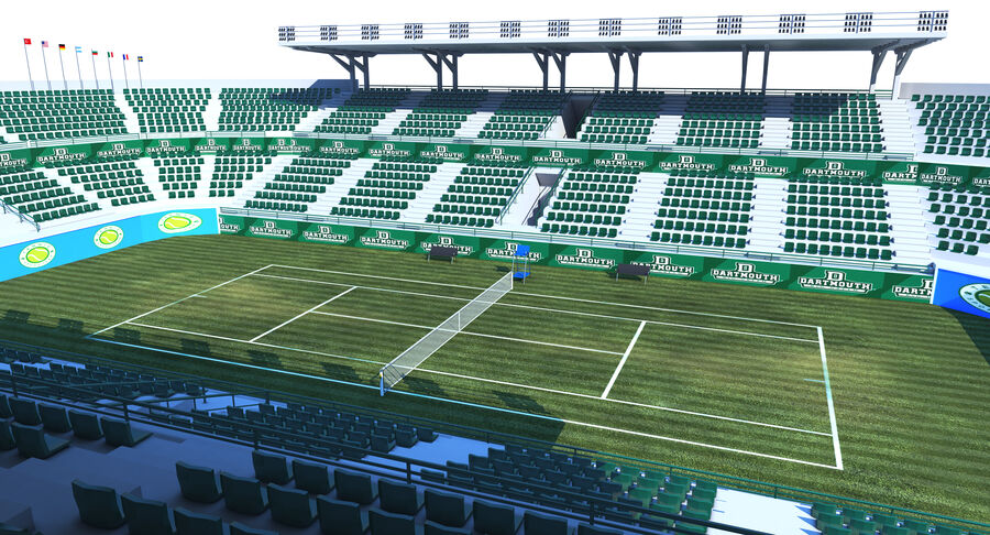 Tennis Court Collection royalty-free 3d model - Preview no. 17