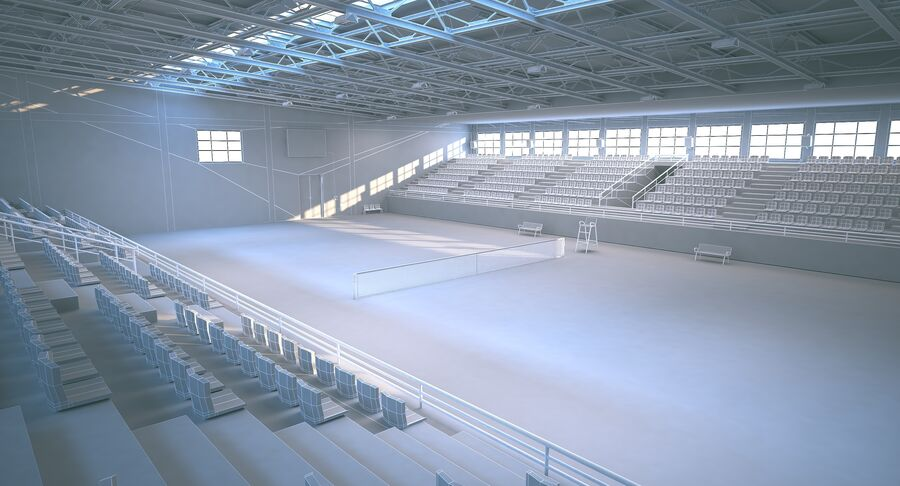 Tennis Court Collection royalty-free 3d model - Preview no. 38