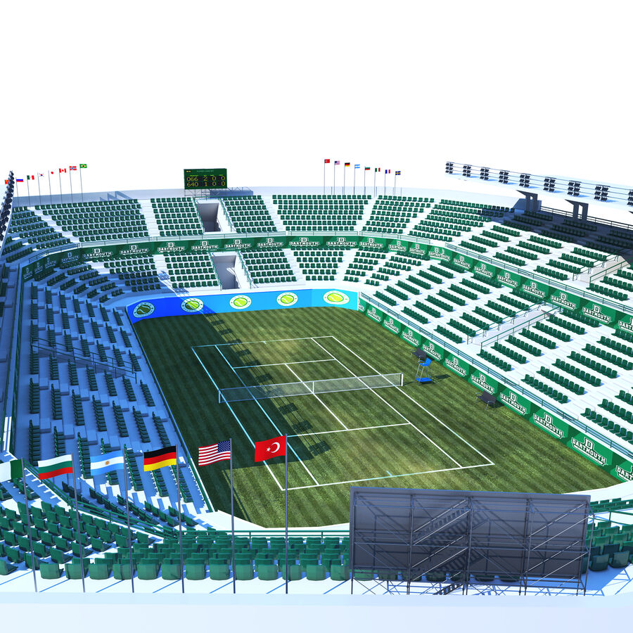 Tennis Court Collection royalty-free 3d model - Preview no. 5