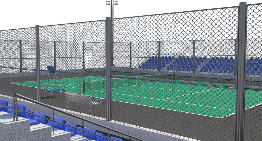 Tennis Court Collection royalty-free 3d model - Preview no. 51