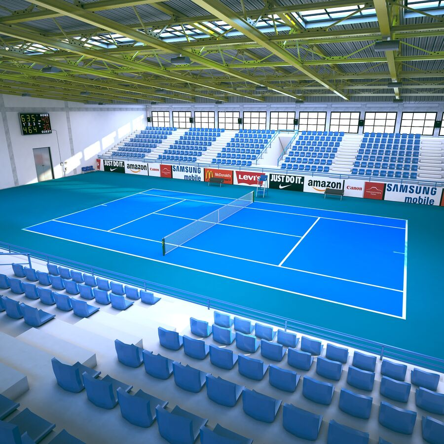 Tennis Court Collection royalty-free 3d model - Preview no. 3