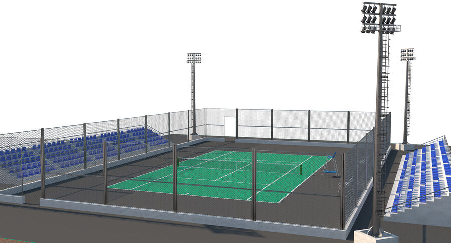 Tennis Court Collection royalty-free 3d model - Preview no. 45