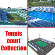 Tennis Court Collection 3d model