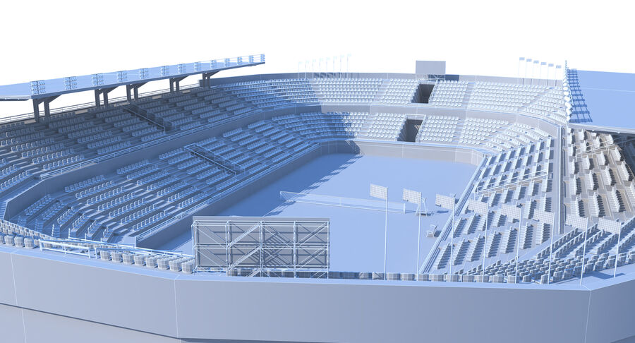 Tennis Court Collection royalty-free 3d model - Preview no. 19
