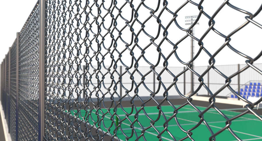 Tennis Court Collection royalty-free 3d model - Preview no. 49