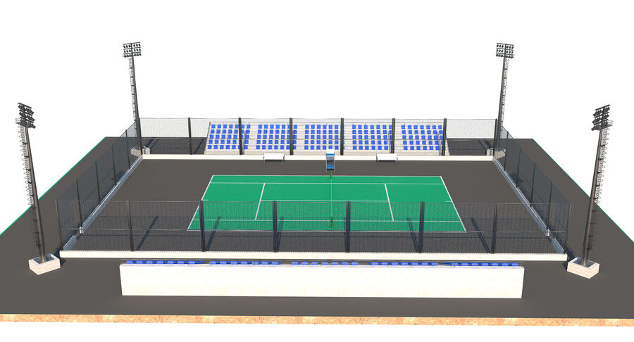 Tennis Court Collection royalty-free 3d model - Preview no. 44