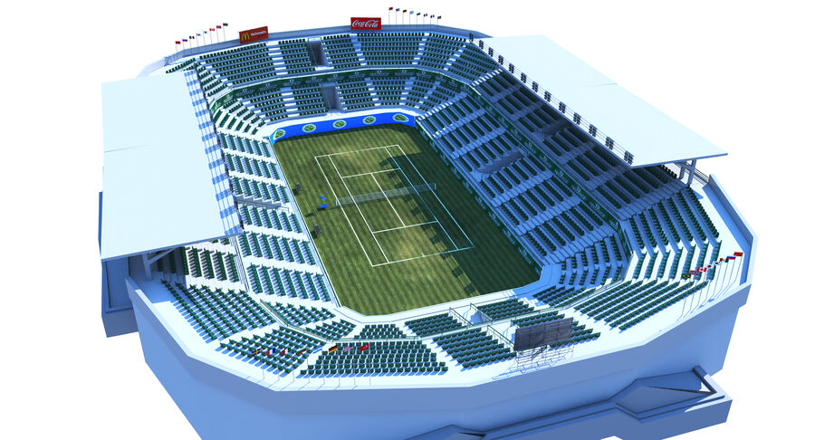 Tennis Court Collection royalty-free 3d model - Preview no. 7