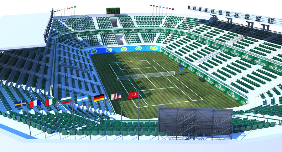 Tennis Court Collection royalty-free 3d model - Preview no. 6