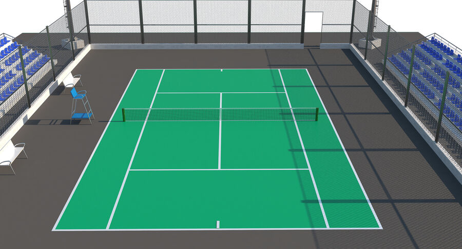 Tennis Court Collection royalty-free 3d model - Preview no. 52