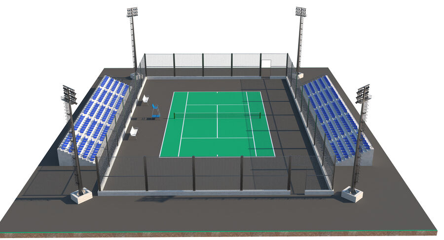 Tennis Court Collection royalty-free 3d model - Preview no. 53