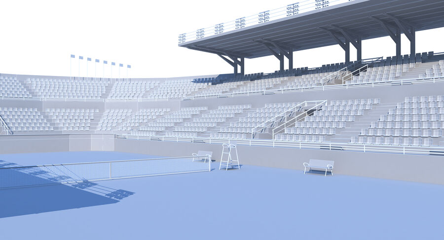 Tennis Court Collection royalty-free 3d model - Preview no. 23