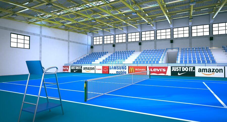 Tennis Court Collection royalty-free 3d model - Preview no. 36