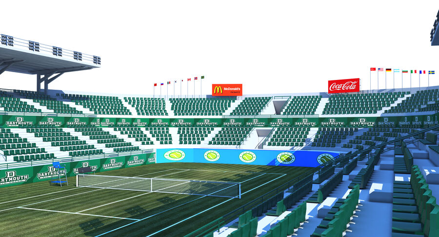 Tennis Court Collection royalty-free 3d model - Preview no. 14
