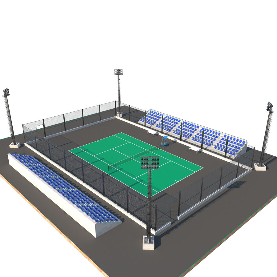 Tennis Court Collection royalty-free 3d model - Preview no. 4
