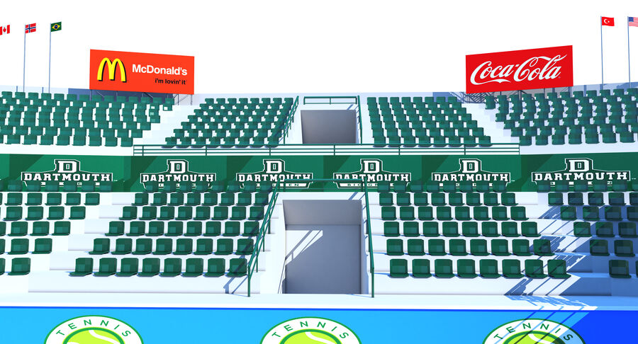 Tennis Court Collection royalty-free 3d model - Preview no. 13