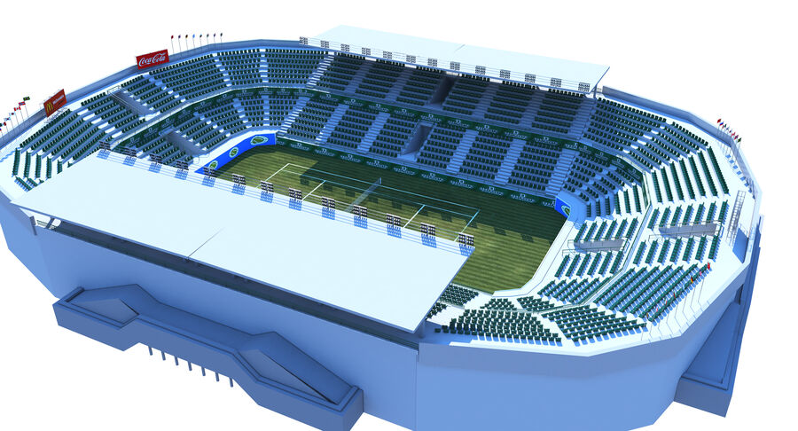Tennis Court Collection royalty-free 3d model - Preview no. 8