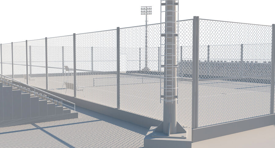 Tennis Court Collection royalty-free 3d model - Preview no. 59