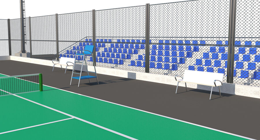 Tennis Court Collection royalty-free 3d model - Preview no. 47