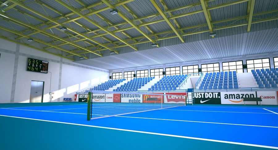Tennis Court Collection royalty-free 3d model - Preview no. 31