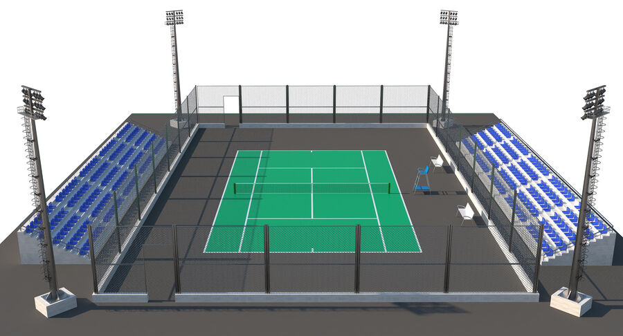 Tennis Court Collection royalty-free 3d model - Preview no. 43