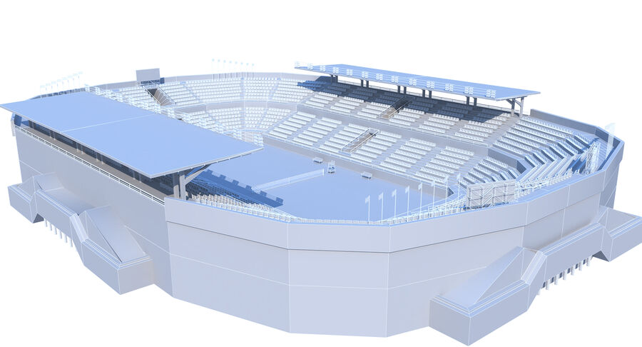 Tennis Court Collection royalty-free 3d model - Preview no. 25
