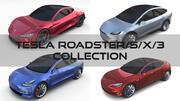 Coleção Tesla (Roadster Model SX 3) 3d model
