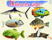 Low Poly Fish Illustration Collection - Animerad del 3 3d model