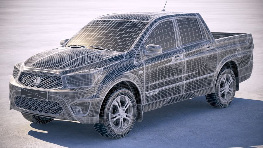 SsangYong Action Sports 2013-2018 royalty-free 3d model - Preview no. 18