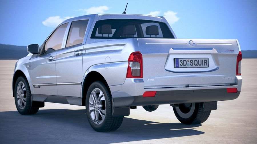 SsangYong Action Sports 2013-2018 royalty-free 3d model - Preview no. 14