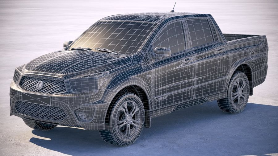 SsangYong Action Sports 2013-2018 royalty-free 3d model - Preview no. 20