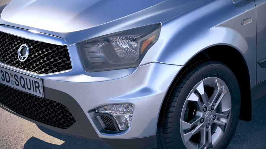 SsangYong Action Sports 2013-2018 royalty-free 3d model - Preview no. 3