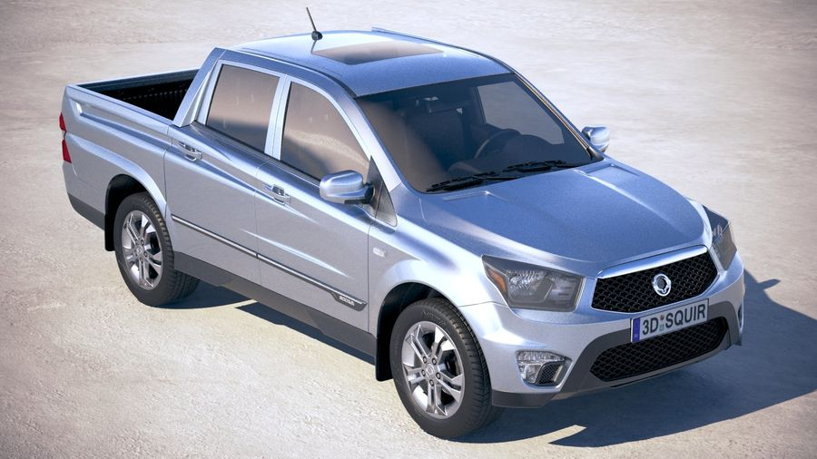 SsangYong Action Sports 2013-2018 royalty-free 3d model - Preview no. 12