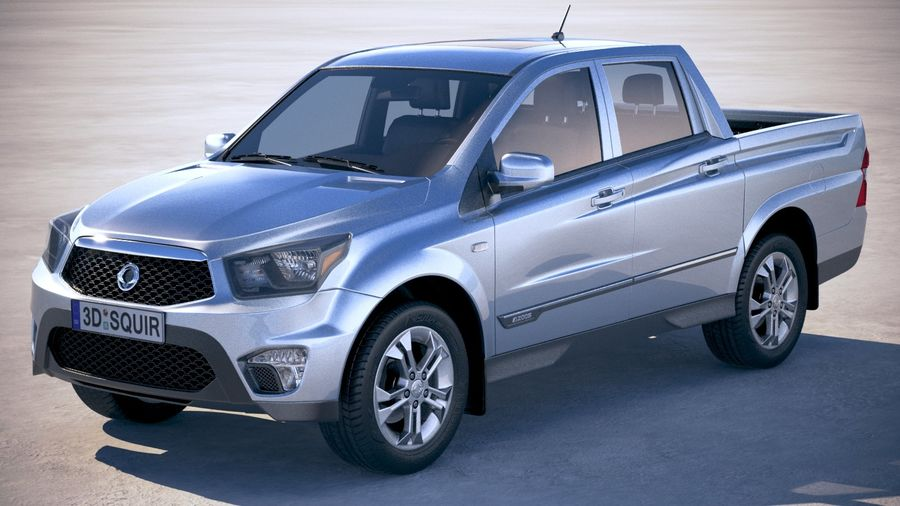SsangYong Action Sports 2013-2018 royalty-free 3d model - Preview no. 1