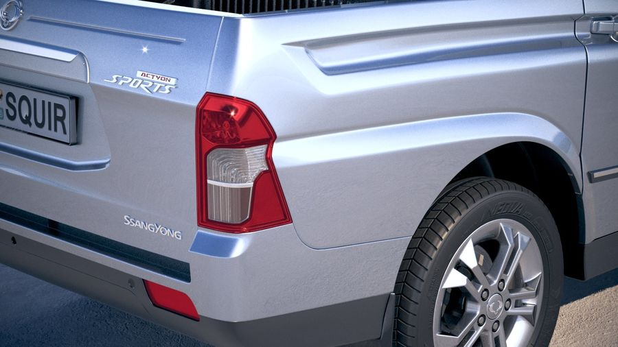 SsangYong Action Sports 2013-2018 royalty-free 3d model - Preview no. 4