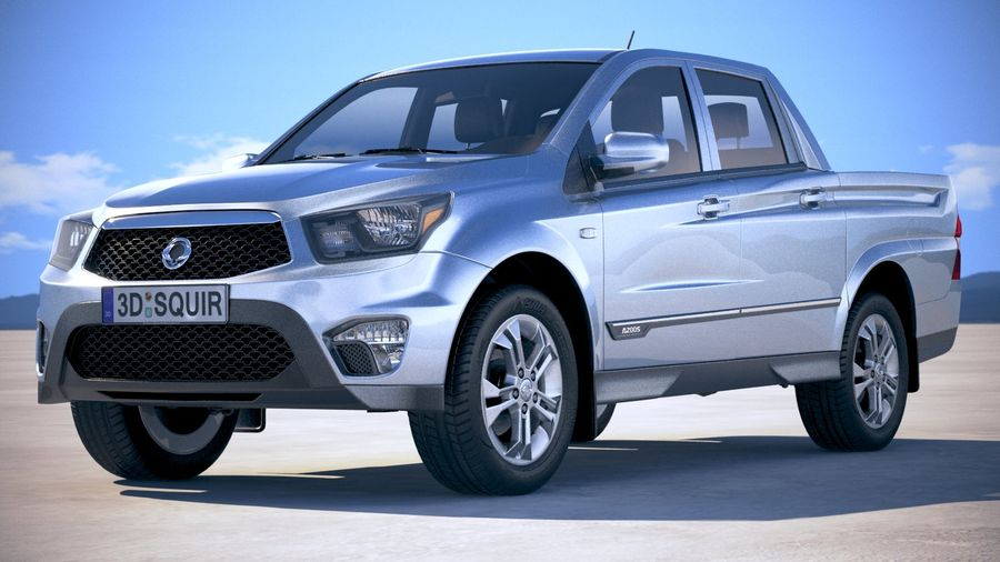 SsangYong Action Sports 2013-2018 royalty-free 3d model - Preview no. 13