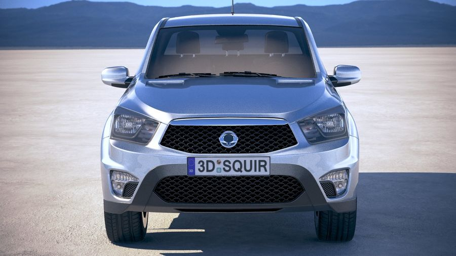 SsangYong Action Sports 2013-2018 royalty-free 3d model - Preview no. 10