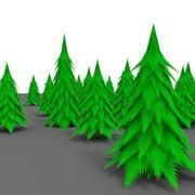 Karikatür çam ağacı 3d model