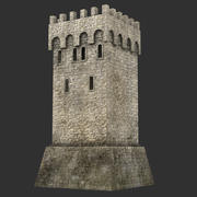 Mittelalterlicher Turm7 3d model