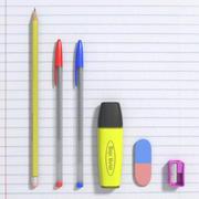 School Materials 3d model