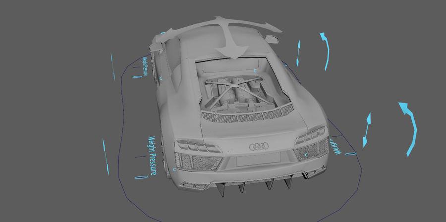 Audi R8 V10 royalty-free 3d model - Preview no. 4